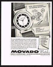 1940's Vintage 1942 Movado Watch Co. - Paper Print AD [b]