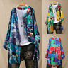 Women Long Sleeve Colorful Floral Tops Shirt Buttons Ladies Casual Tunic Blouse
