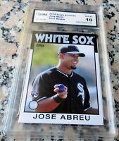 JOSE ABREU 2014 Topps SP 1986 Rookie Card RC Logo GEM MINT 10 White Sox AL MVP $