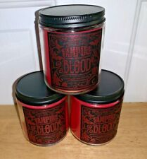 X3 Bath & Body Works Halloween VAMPIRE BLOOD Single Wick Candle NEW