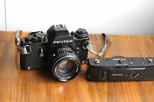 PENTAX LX  35mm SLR Camera w/ Power Winder & Pentax 50mm Lens * Good Condition *