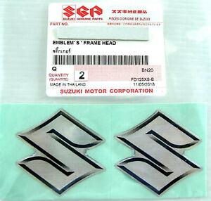 "2 x ORIGINAL Suzuki ""S""-EMBLEM-LOGO-4cm Aufkleber-Emblema-Sticker-Decal-40mm"
