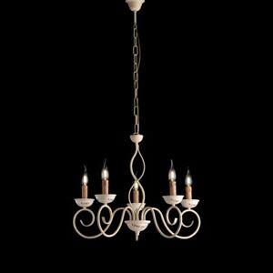 Chandelier iron beat hanging classico ivory bon-bl195-5