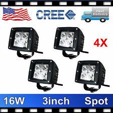 4X CREE 16W Square LED Pod Lights Lamp Offroad SPOT Cube 3inch PODs Truck Flush