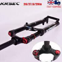 "KRSEC 26"" 27.5"" 29"" Mountain Bike Air Suspension Fork Manual Lockout 1-1/8"" Disc"