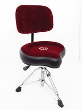 Roc-N-Soc NROR Nitro Series Drum Throne w/ Saddle Seat & Matching Backrest, Red