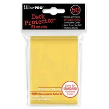 ULTRA PRO 50CT YELLOW STANDARD DECK PROTECTOR SLEEVES #82675 NEW