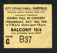 1969 Jethro Tull concert ticket stub Stand Up Tour Sheffield UK Nothing Is Easy