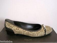 Gucci Canvas Jacquard Leather Horsebit Ballet Ballerina Flats 37 7