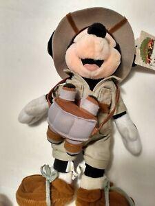 "Walt Disney world 10"" safari mickey mouse with binocular Plush stuffed animal"