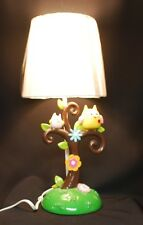 Lamp, Child's room whimsical tree, birds flowers, table lamp with Line Switch.