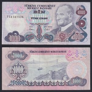 Turchia 1000 lira 1970 BB+/VF+ Pick 191  B-10