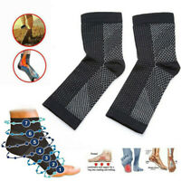 Ankle Sock Compression Support Heel Sleeve Open Toe plantar Foot Pain NEW 2019