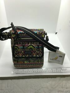 Sakroots peace multicolor small flip messenger women bag new $48