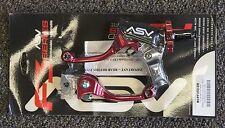 ASV F3 Brake & Clutch Lever Pro Pack Short Red Honda CRF250R CRF450R