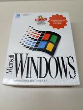 "NEW SEALED Genuine Microsoft Windows 3.1 26/01/1993 3.5"" FRENCH/FRANÇAIS"