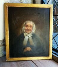 c. 1820 ANTIQUE PORTRAIT OIL PAINTING ANCIENT OLD LADY. SCOTTISH or WELSH GRANNY