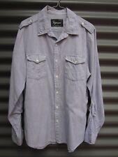 Topman Men's Blue Long Sleeve Shirt Size Large RN 125149 Measured Chest 110 cm