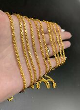 "9999 24k Solid gold Anchor Chain 22.5 Gram 24"" 2.3mm"