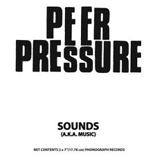 "Peer Pressure-Sounds (aka Music) 2x7""EP Spazz Punk KBD reissue"