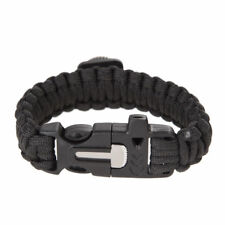 Survival Bracelet Paracord Rope Compass Whistle Flint Fire Starter Kits