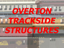 RCR - HO OVERTON TRACKSIDE STRUCTURES 2 with SCALE LUMBER for cribbing included