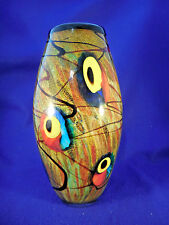 "HUGE ART GLASS VASE 15"" TALL BEAUTIFUL COLOR"