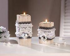 deko sets aus holz mit herz form ebay. Black Bedroom Furniture Sets. Home Design Ideas