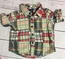Baby Gap Plaid Button Down Shirt Infant 3-6 Month