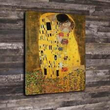 """The Kiss (Le Baiser), c.1907 Printed Canvas A1.30""""x20"""" 30mm Frame Gustav Klimt"""