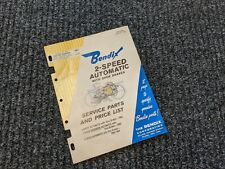 1965 Bendix Bicycle 2 Speed Rear Brake Hub Original Service & Parts List