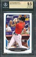 Christian Yelich Rookie Card 2013 Bowman Draft #40 Milwaukee Brewers BGS 9.5