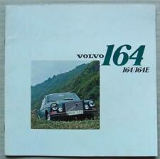 VOLVO 164 & 164E Car LF Sales Brochure 1973 #RSP/PV 529-73 8.72