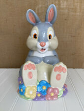 "Disney Thumper Cookie Jar Bambi's Friend Rare Retired 12"""