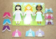Melissa & Doug wooden Princess PEG PUZZLE - excellent condition 9 pieces