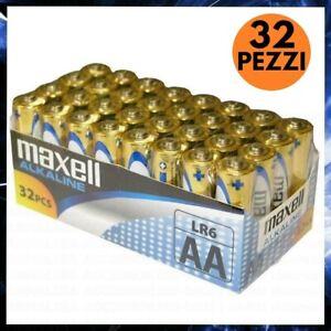 32 BATTERIE STILO AA MAXELL PILE ALCALINE 1.5V Ni-MH STOCK BATTERIA MIGNON LR6