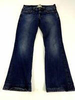 LUCKY BRAND WOMENS DARK WASH LOW RISE BOOT CUT ANKLE CROP JEANS SIZE 2/26
