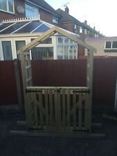 garden arch with double gates free delivery