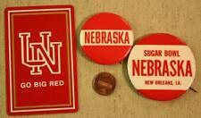 1960s University of Nebraska Cornhuskers Sugar Bowl football pins & Playing Card