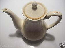 Vintage Retro Ironstone Sunrise Teapot Tea Pot Kettle Pitcher Dish Tan Gold