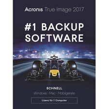 Acronis True Image 2017 / 2018* 1-PC Dauerlizenz / Datensicherung/HDD-Copy / KEY
