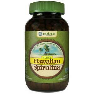 Pure Hawaiian Spirulina 500mg Tablets 400 Count Nutrex Hawaii - 67 Servings