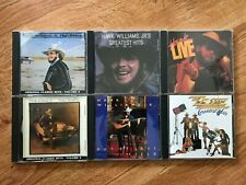 Hank Williams Jr. CD Lot of 5 with additional ZZ Top Album - Excellent condition