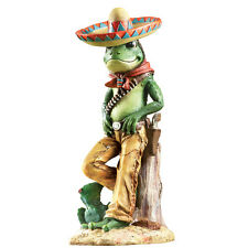 Charming Frog Bandito Garden Sculpture, Green, by Collections Etc