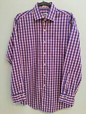 Peter Millar Gingham Check Shirt Mens Medium Pink Blue