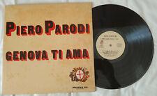 PIERO PARODI LP anno 1978 Genova ti ama COPERTINA APRIBILE