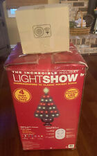 Gemmy The Incredible Holiday light show Christmas Tree Music Lights 4 ft