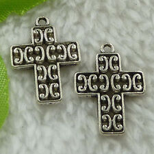 free ship 200 pieces tibet silver cross charms 22x16mm #3272