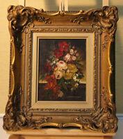 Helga SAMARA (*1941) kleines Ölgemälde Blumenstillleben