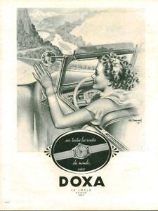 Publicité ancienne bijou montre Doxa 1949 issue de magazine
